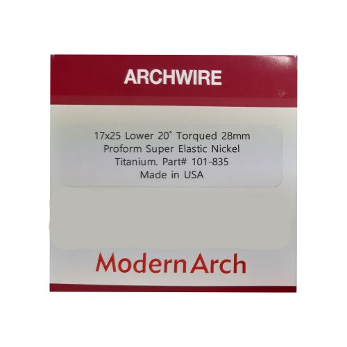 Torqued Arch Wire (17×25 28mm /Lower/20º)(1pkg/5ea)